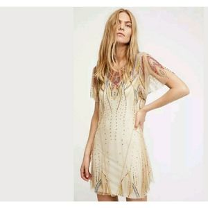 Free people art deco dress in excellent condition